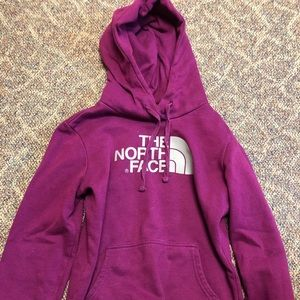 The North Face purple hoodie
